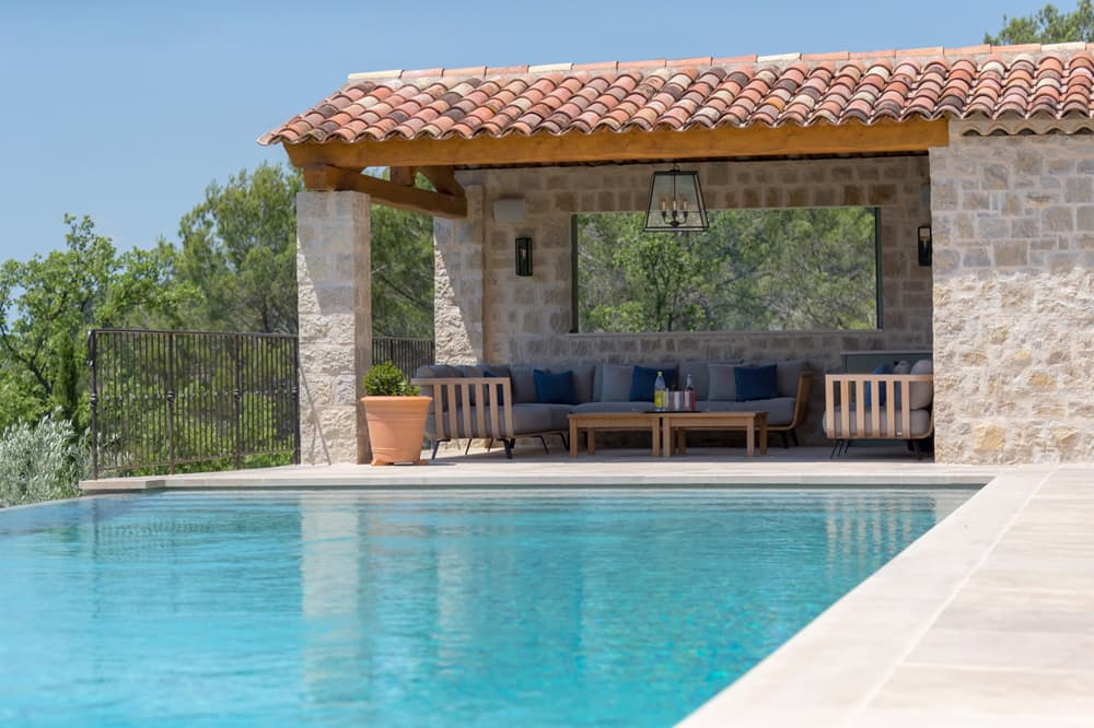 Private pool with covered terrace