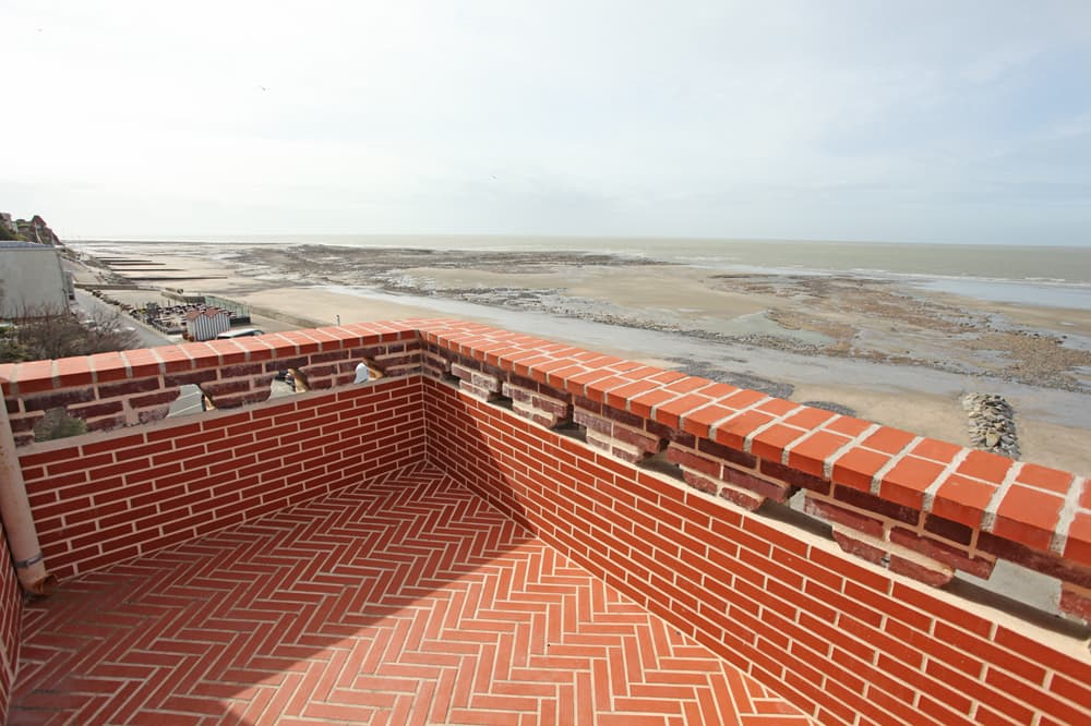 Terrace with sea view in Normandy