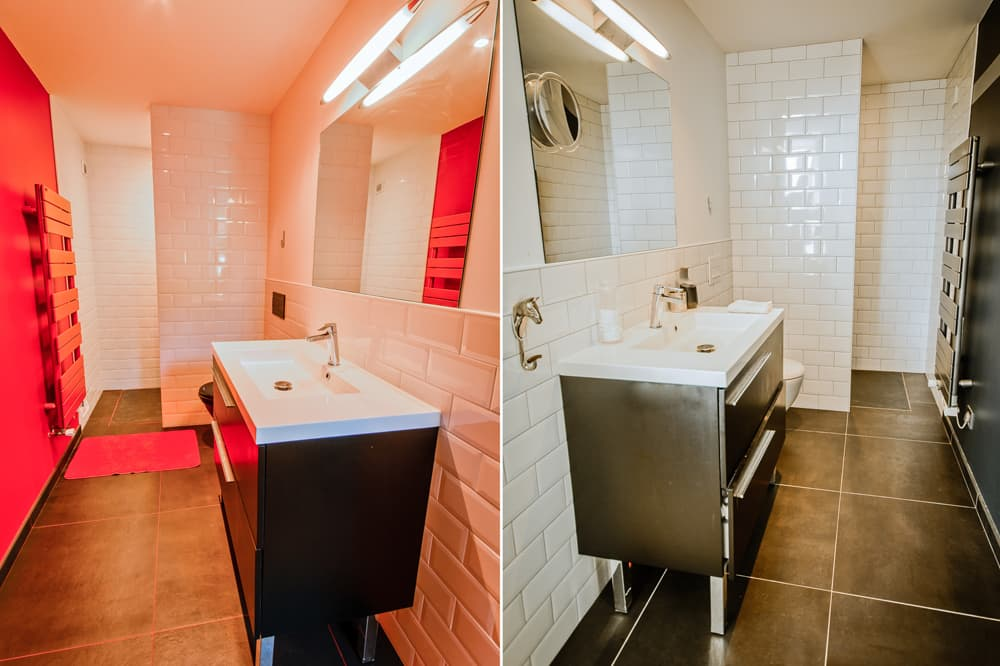 Bathrooms in South West France holiday accommodation