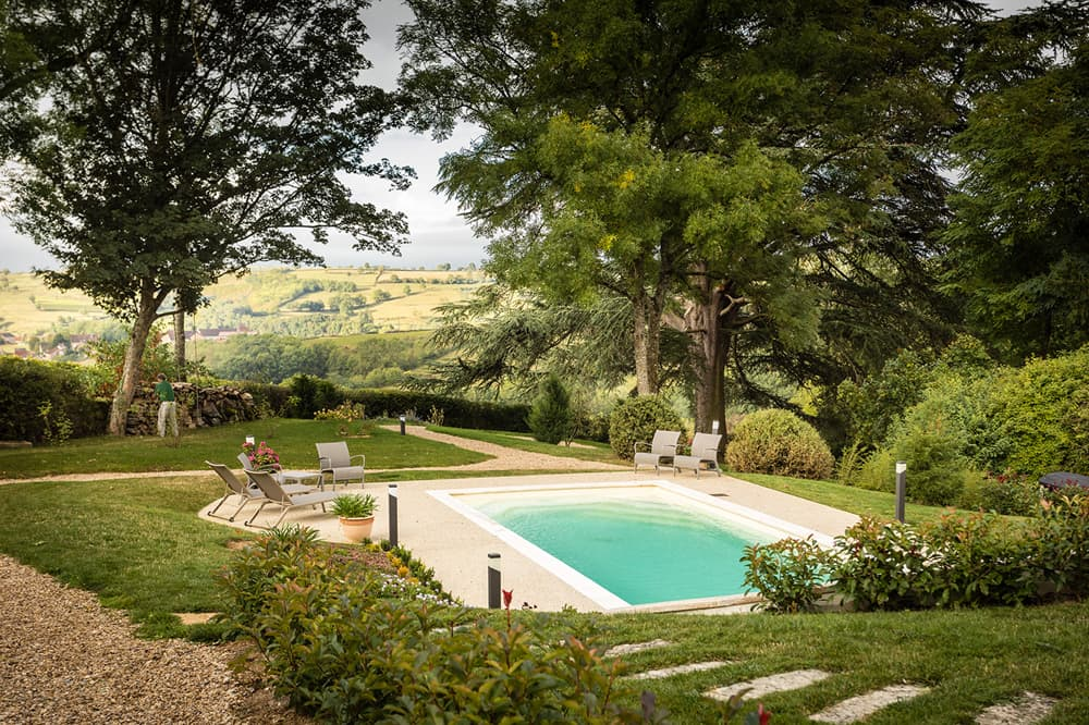 Private, heated pool in Burgundy