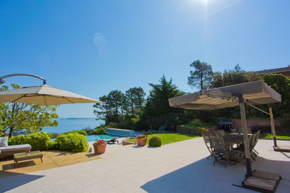 Terrace with private pool and Mediterranean Sea view